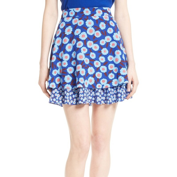 kate spade Skirts | Tangier Floral Double Layered Skirt 2 | Poshmark